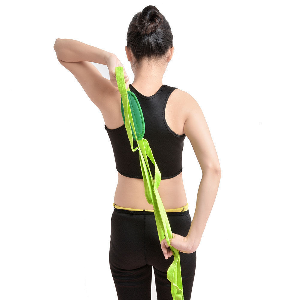 "Restore Multi-Grip 85""Yoga Stretch Strap Training Belt Waist Leg Fitness Flexibl"