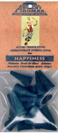 INCENSE, AMERICAN INDIAN-CONES--HAPPINESS (Pet...oils; 20/pk)
