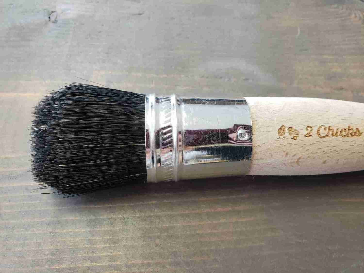 New! Black Bird, Black China Natural Bristle Chalky Paint Brush WS