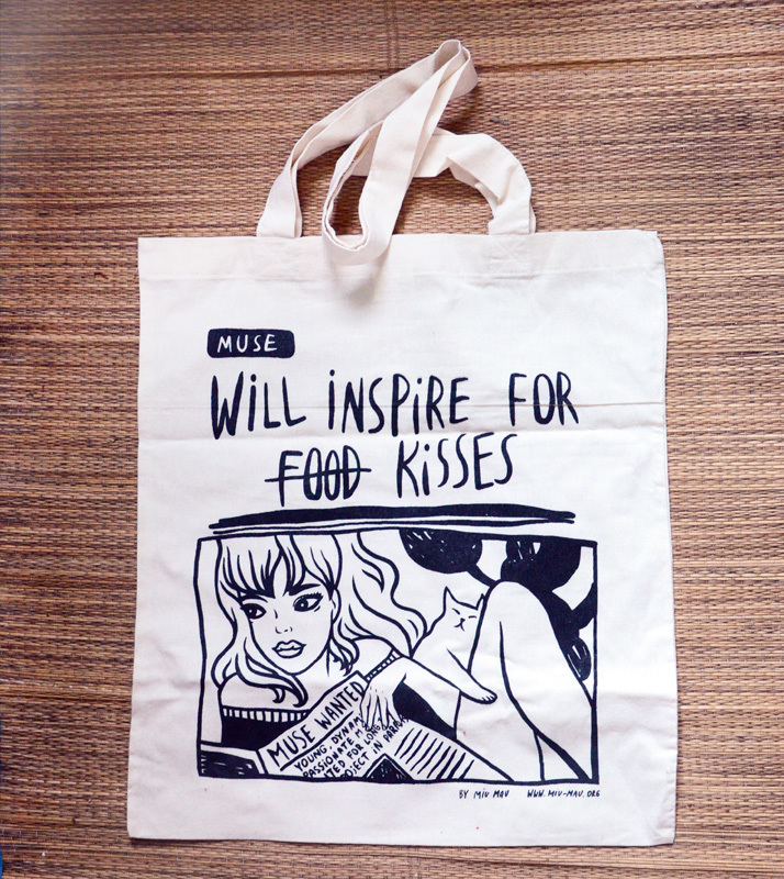 """Tote Bag """"Will inspire for kisses"""" 00485"""