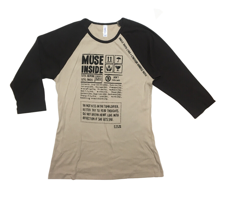 """Muse inside"" Coffee Shirt L"