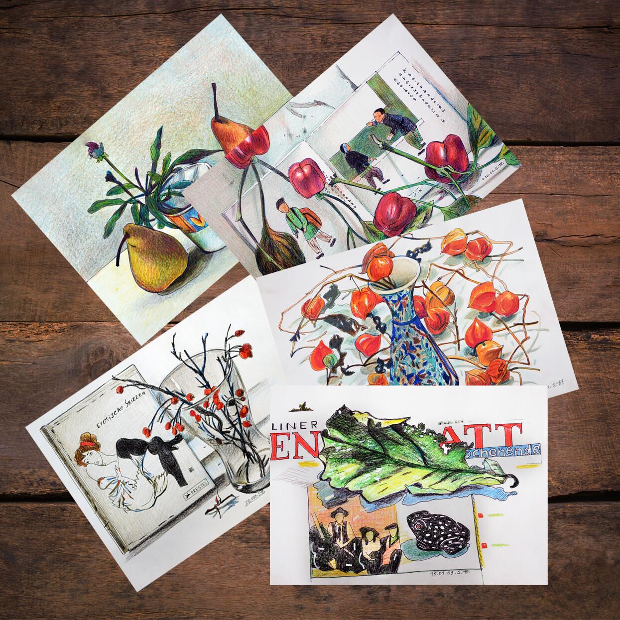 5 Postcards by Svetlana Frank