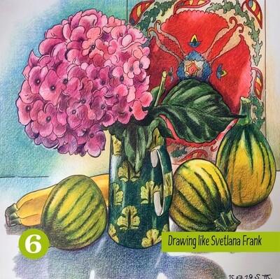 Zeichnen wie Svetlana Frank Ausmalbuch - Band6!