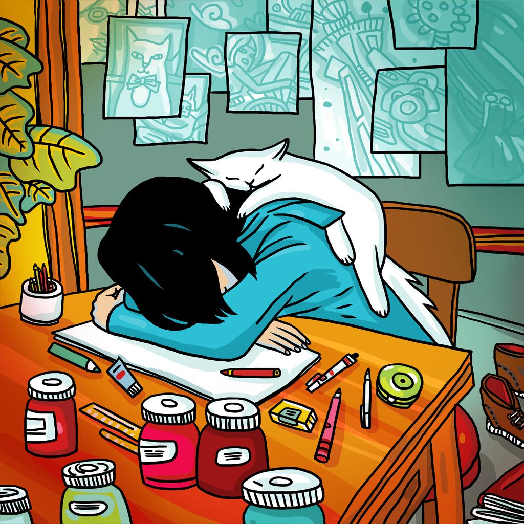 """Wallpaper """"Long Night"""" 00680"""