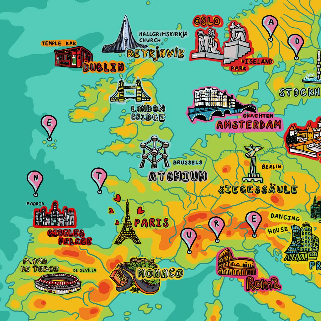 """Wallpaper """"Europe"""" 00681"""