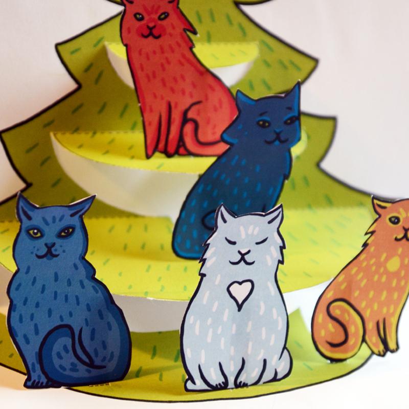 Christmas Tree Pop-Up Card 00699