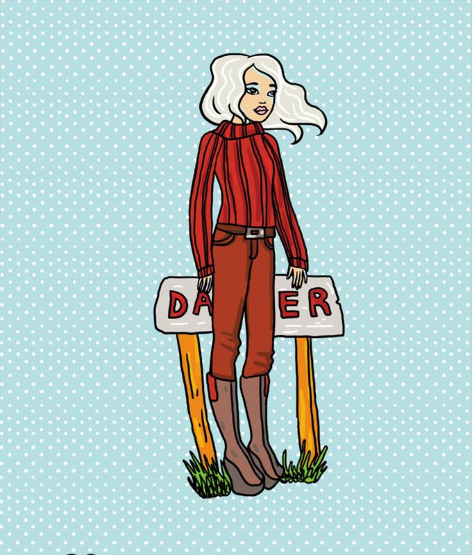 Lena - Paper doll dress up kit 00727