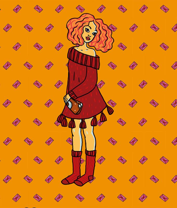Sabina - Paper doll dress up kit