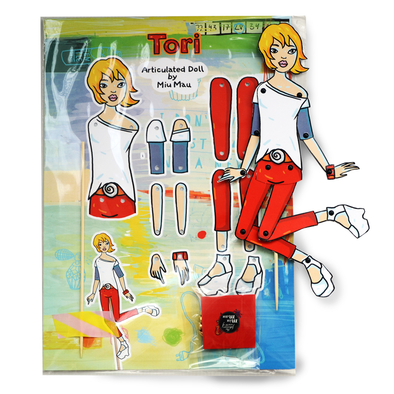 Tori - DIY Articulated Paper Doll 00744