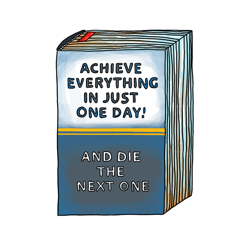 """Postcard: """"Achieve Everything In Just One Day"""""""