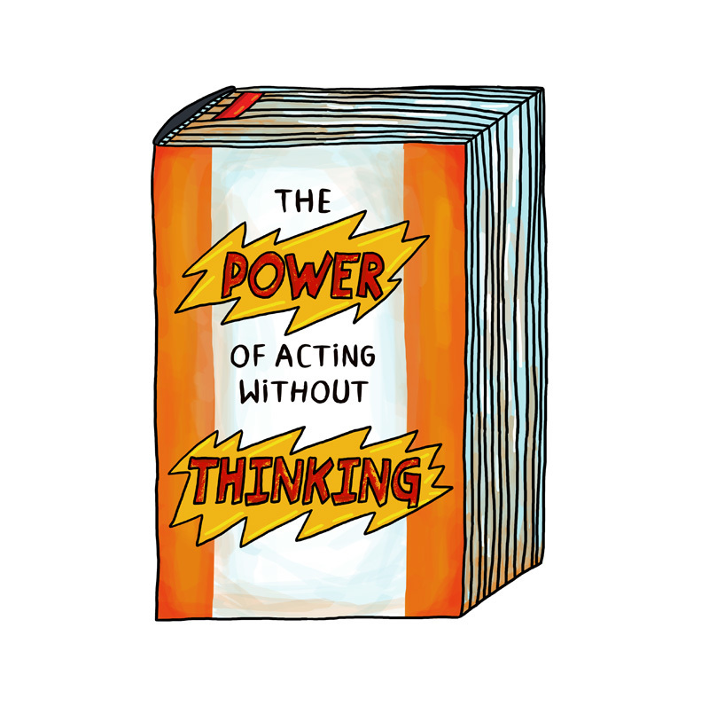 "Postcard: ""The Power Of Acting Without Thinking"" 00776"