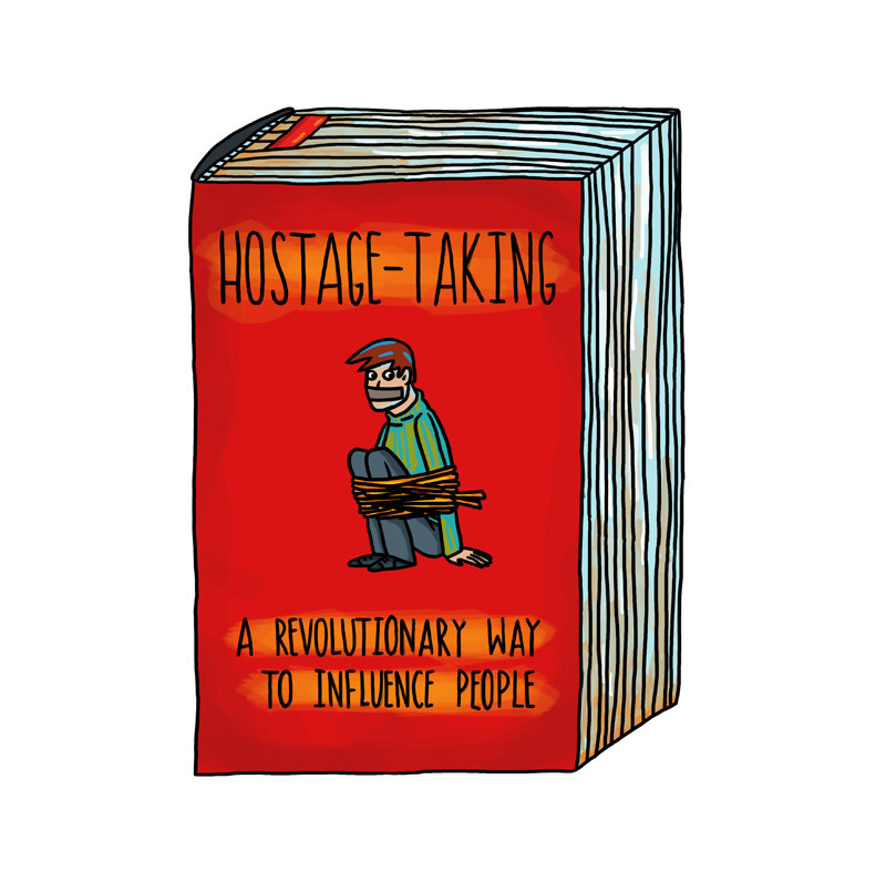 "Postcard: ""Hostage Taking - A Revolutionary Way To Influence People"""