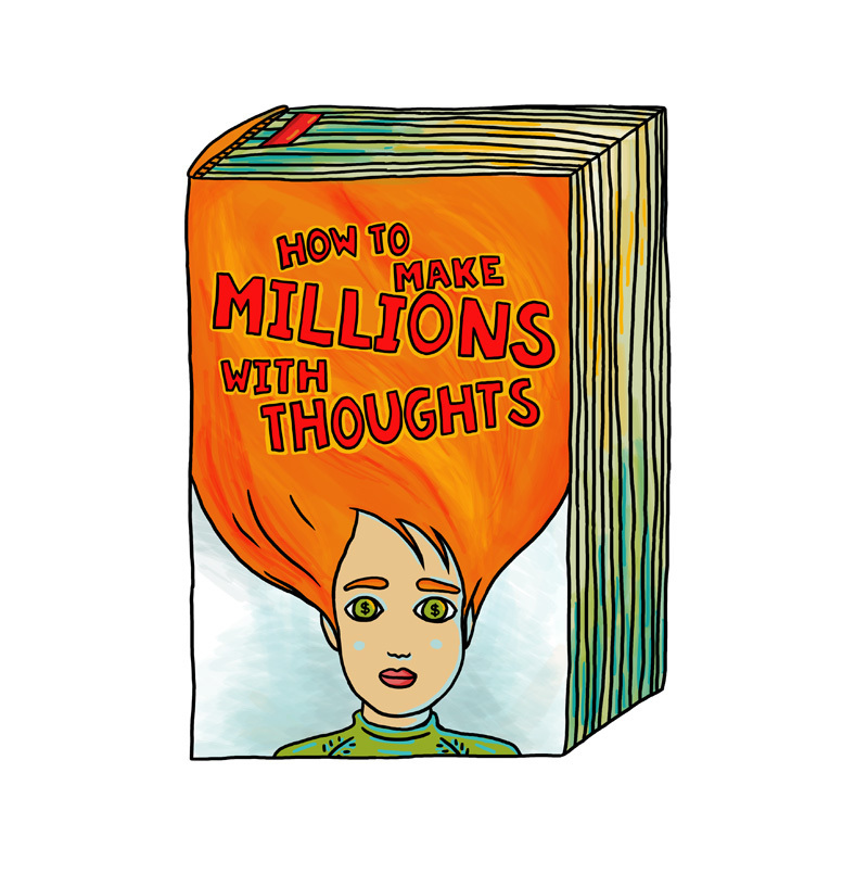 """Postcard: """"How To Make Millions With Thoughts"""""""