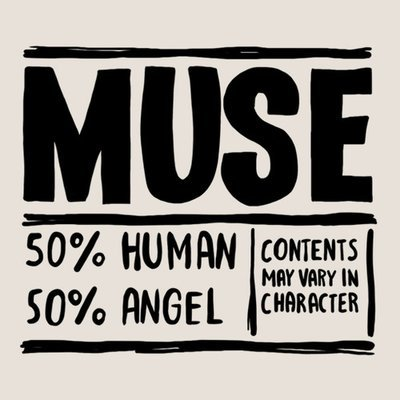 Muse inside tattoo (set of 2)