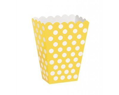 Yellow Popcorn Box 7x
