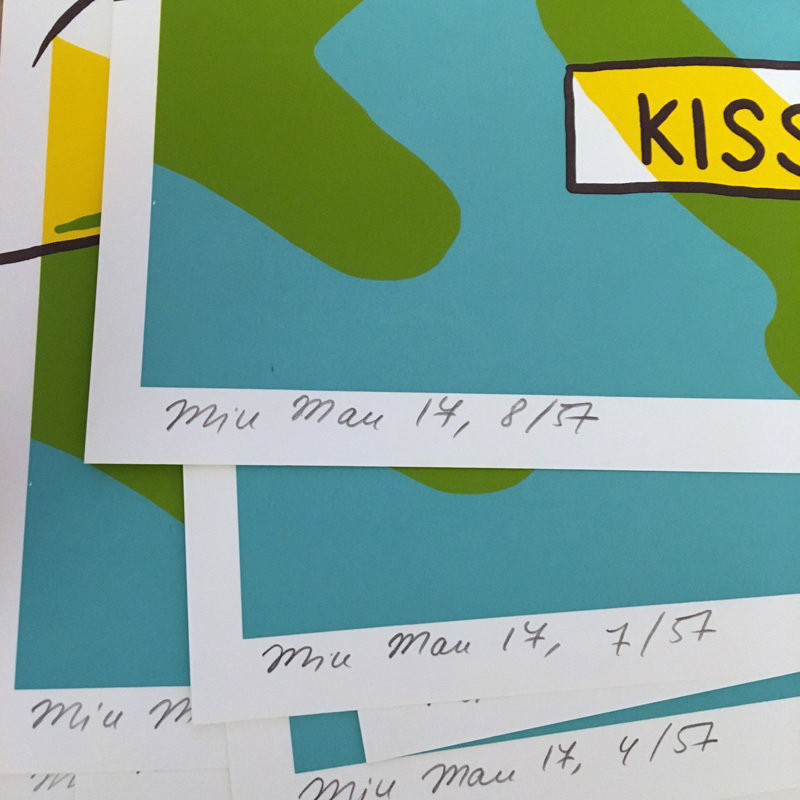 """Kiss Me!"" Screen Print limited edition"