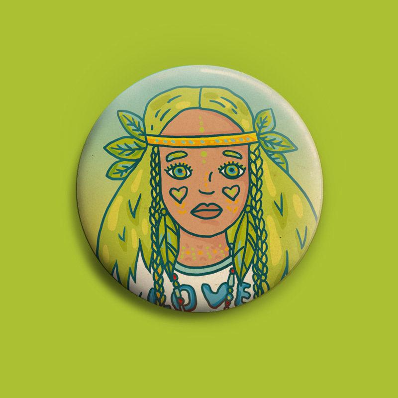 BRLN GRLS Buttons