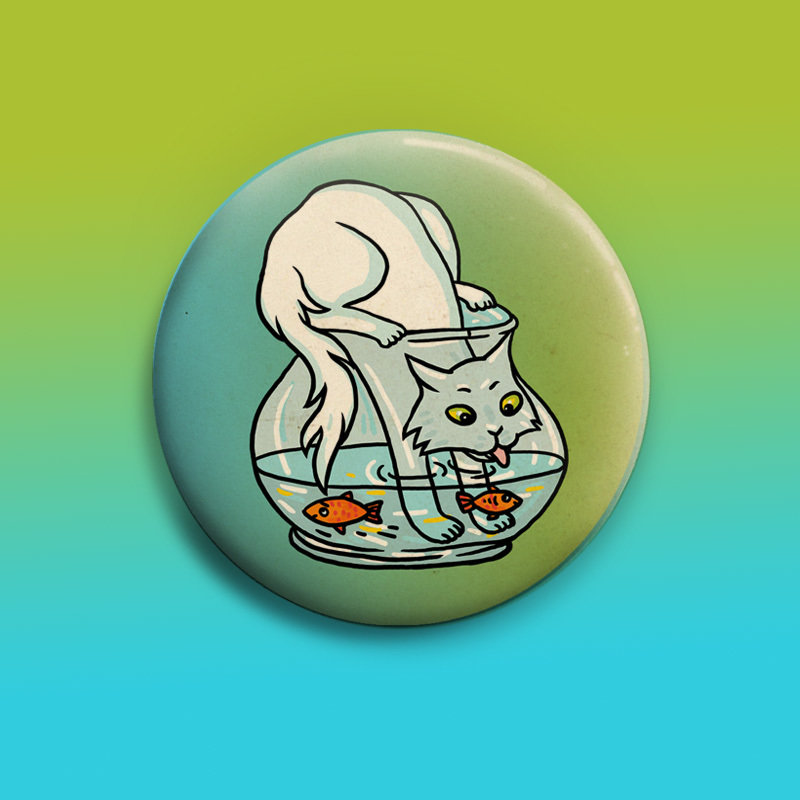 Fishing  Button 50mm 00821