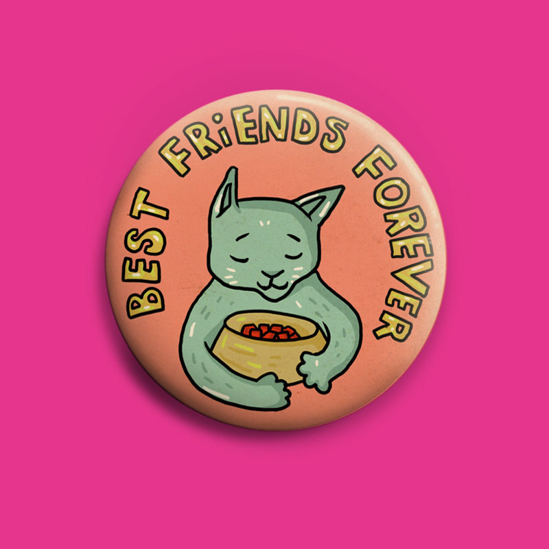 Best Freinds Forever  Button 50mm