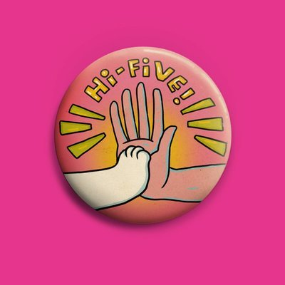 Hi Five!  Button 50mm