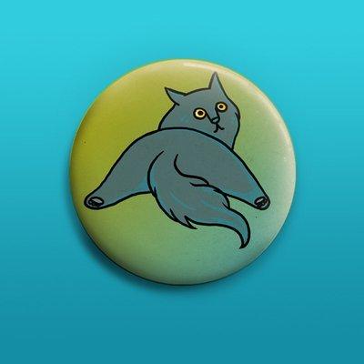 Blue Beauty Button 50mm