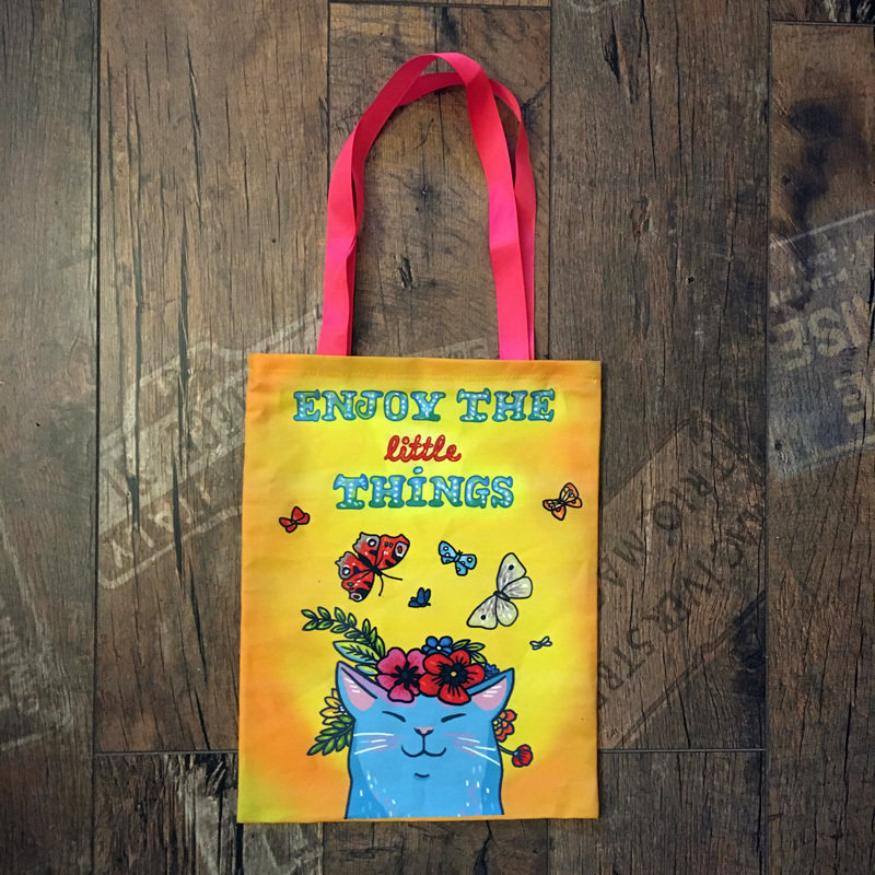"""Tote Bag """"Enjoy the little things"""" 00834"""