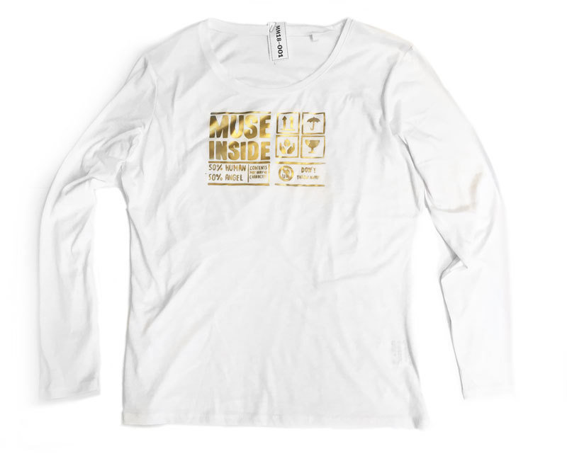 Muse Inside  Size L - matte gold