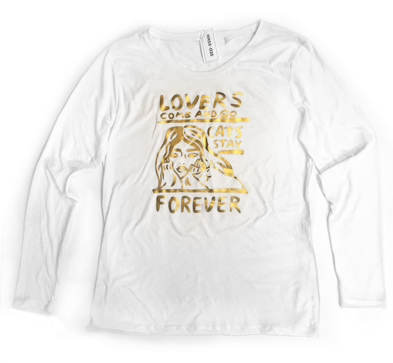 Cats stay forever - matte gold  (L)