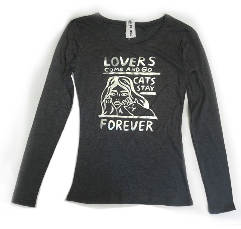 Cats stay forever - matte silver  (XS)