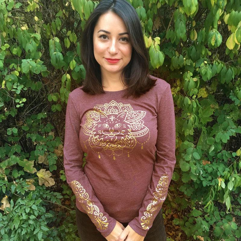 """Shirt """"Purrvana"""" (M) m-044-052"""