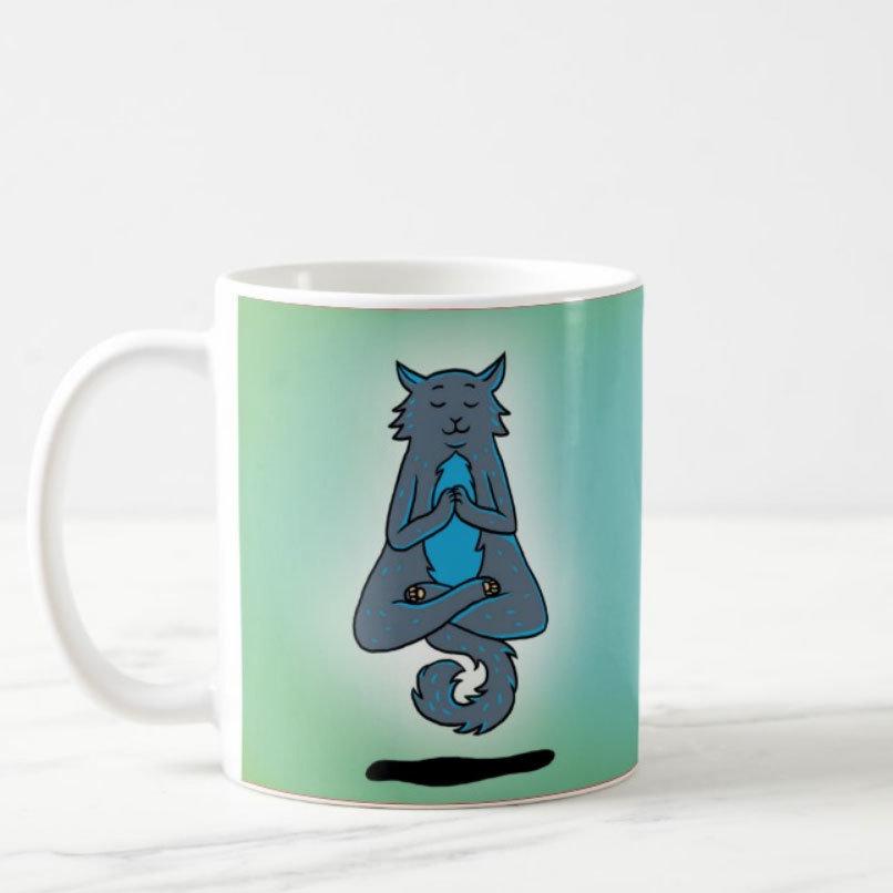 """Mug """"Yoga Cat"""" 00977"""