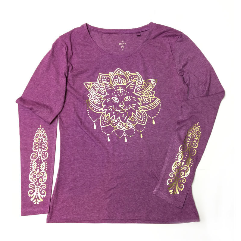 "Shirt ""Purrvana"" Rose"