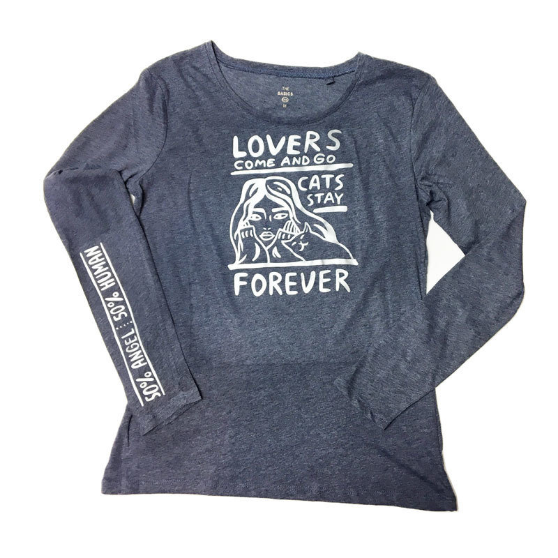 Cats stay forever - matte silver  (M) 00988