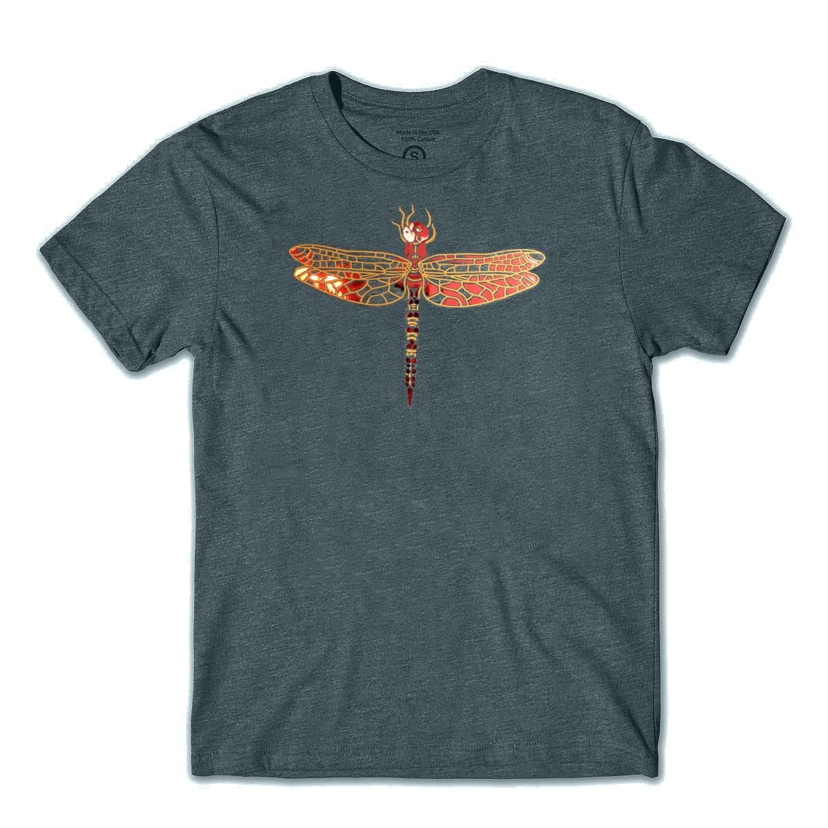 """Shirt """"Dragonfly"""" grey"""