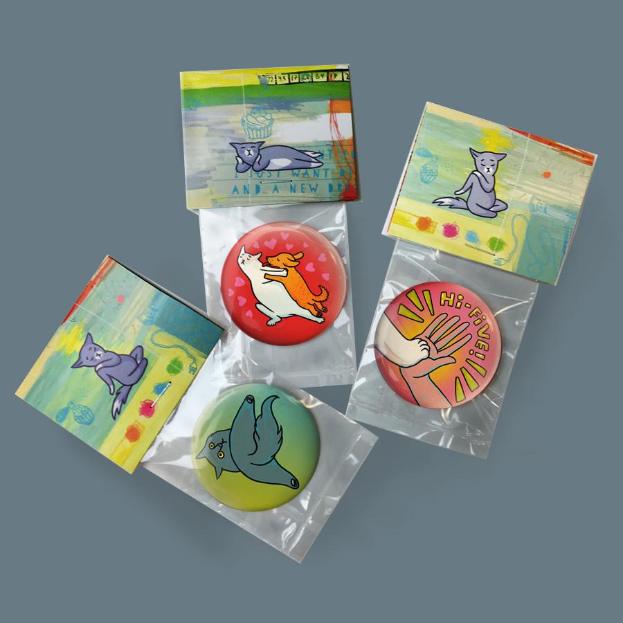 Fishing  Button 50mm