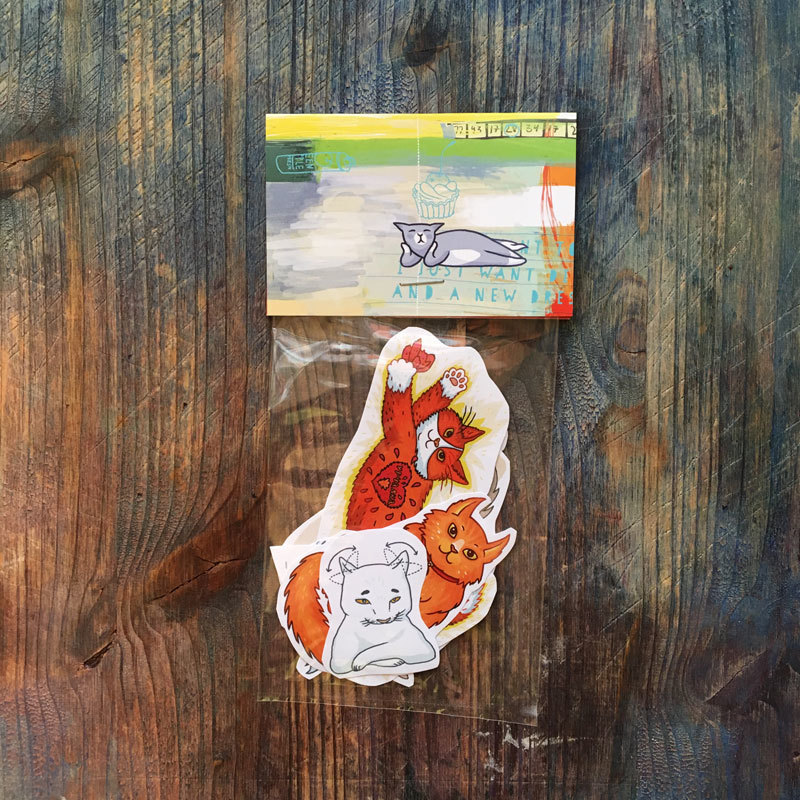 Cat Stickers set of 8