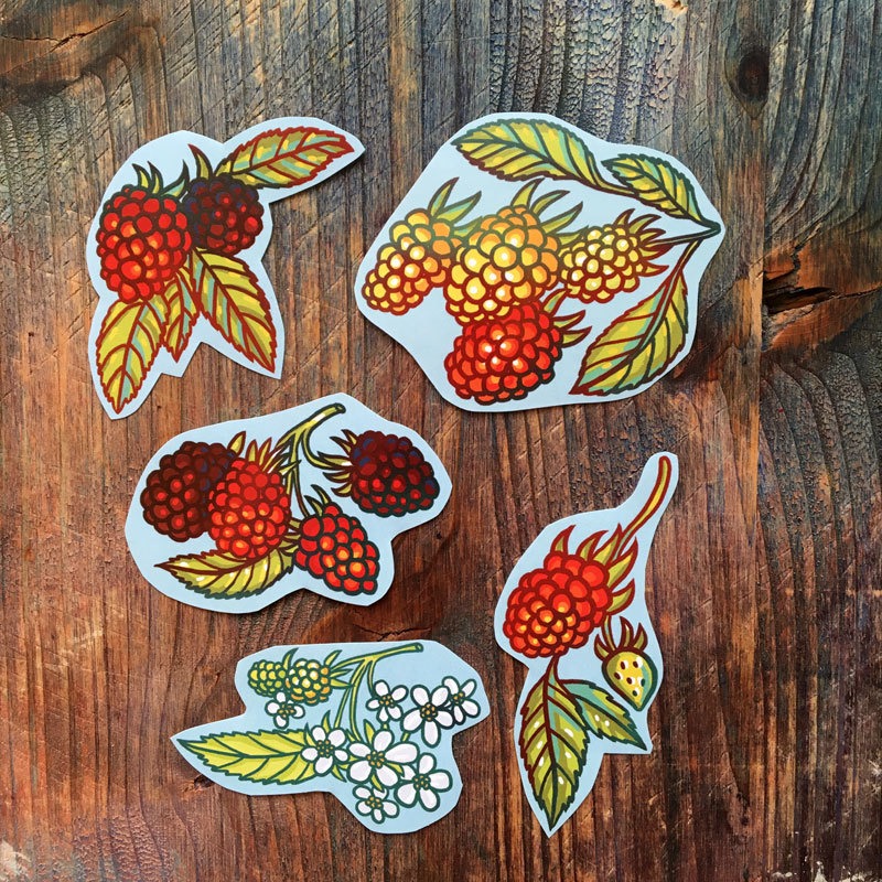 Big Fruit&Berries stickers set of 27