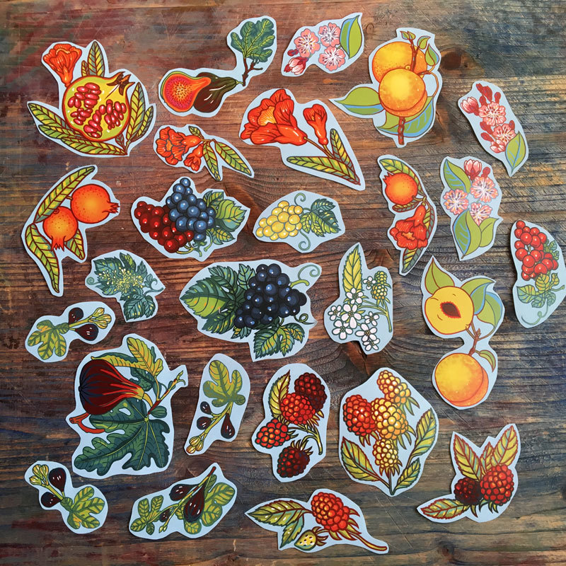 Big Fruit&Berries stickers set of 27 01078