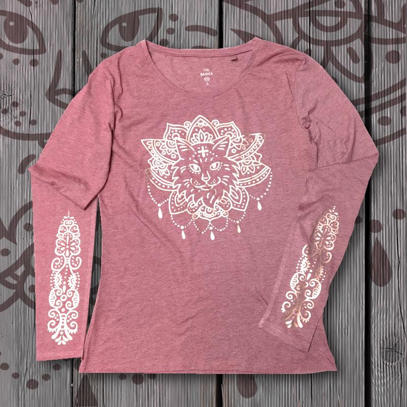"""Shirt """"Purrvana"""" Light Rose + Gold 01079"""