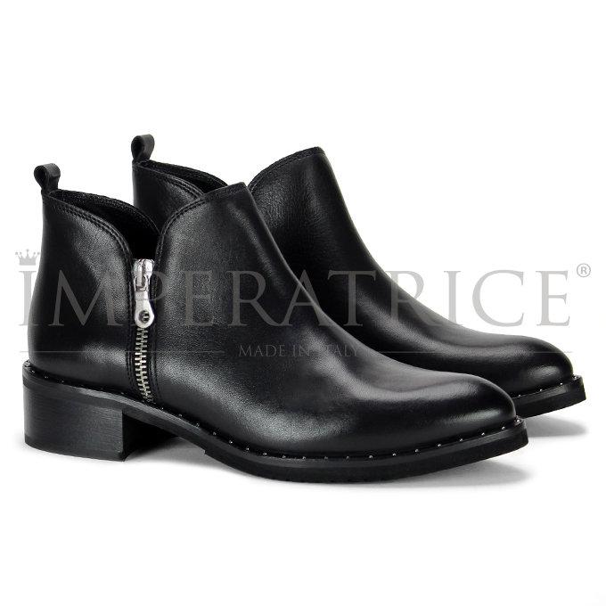 rivenditore di vendita 10d97 6771f Stivaletto nero in pelle basso con cerniera Scrivi una recensione | Fai una  domanda