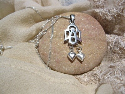 GUARDIAN ANGEL spiritual necklace ~ silver