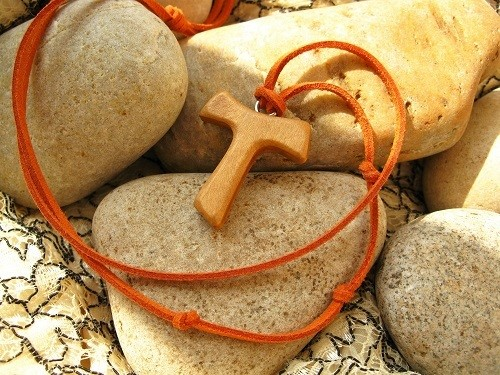Tau Cross necklace for travellers