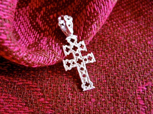 Caravaca cross necklace ~ openwork, silver