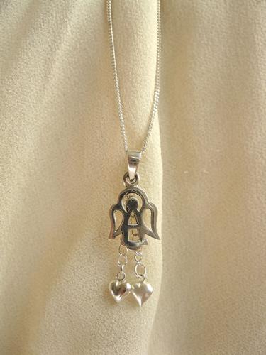 GUARDIAN ANGEL spiritual necklace ~ silver
