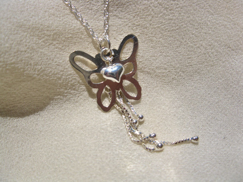 Butterfly necklace ~ Enchanted, silver
