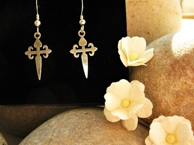 Camino St James cross earrings ~ ideal safe travel gift