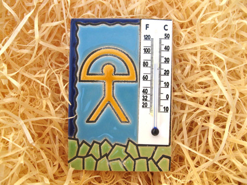 Lucky fridge magnet thermometer ~ Indalo