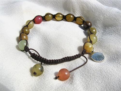 Shamballa camino bracelet, jade