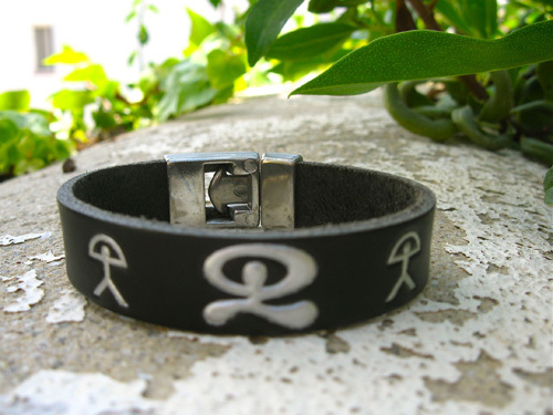 Leather Indalo bracelet ~ trio