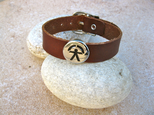 Indalo bracelet ~ soft leather strap